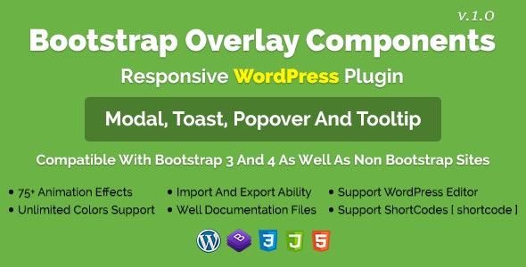 Bootstrap Overlay Components - Responsive WordPress Plugin - CodeCanyon Item for Sale