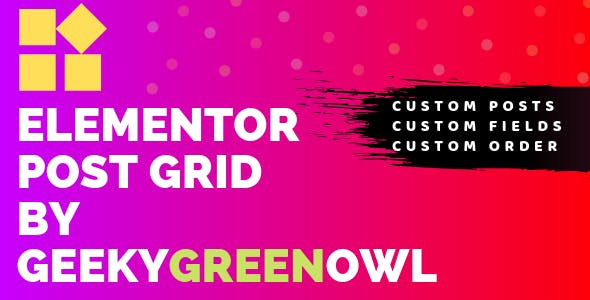 Elementor Post Grid by Geeky Green Owl