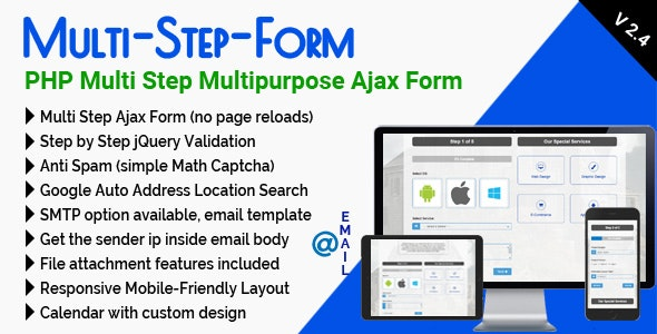 Multi-Step-Form - PHP Multi Step Multipurpose Ajax Form by mgscoder