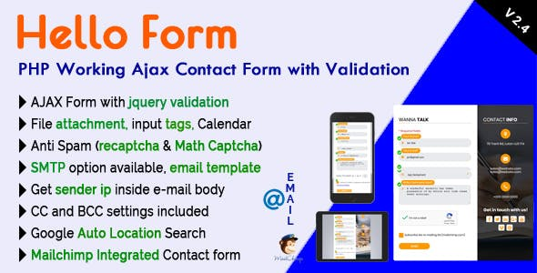 Anti Spam Form and Smtp PHP Forms from CodeCanyon
