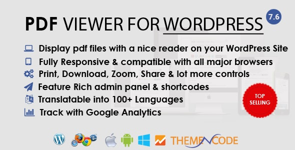 PDF viewer for WordPress by ThemeNcode | CodeCanyon