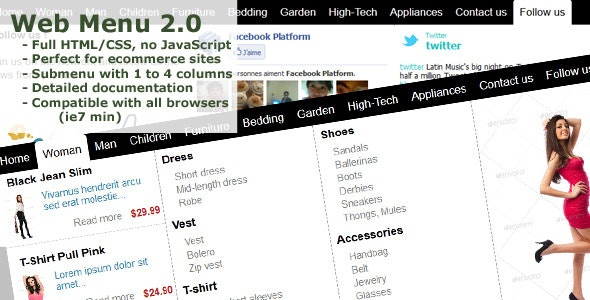 Web Menu eCommerce 2.0 - CodeCanyon Item for Sale