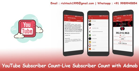 Youtube Suscriber Count – Live Youtube Subscriber Count with Admob
