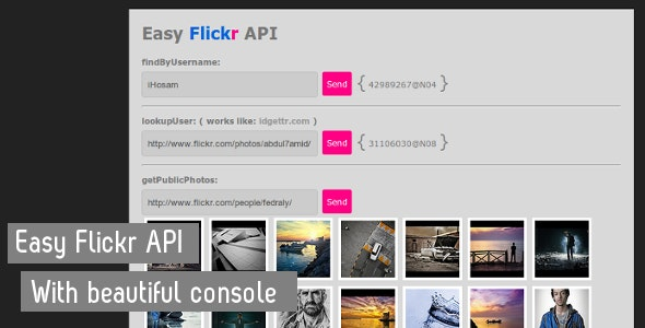 Easy Flickr API - CodeCanyon Item for Sale