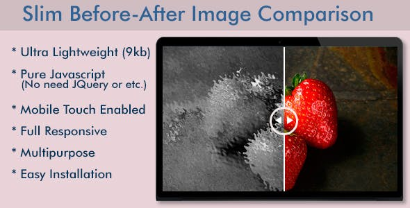 Slim Before-After Image Comparison Slider