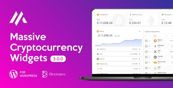 Massive Cryptocurrency Widgets | Crypto Plugin - CodeCanyon Item for Sale