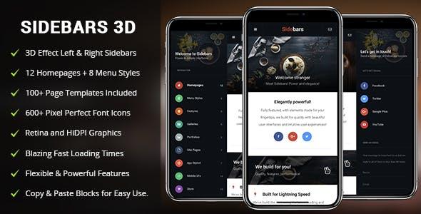 Sidebars 3D Mobile | PhoneGap & Cordova Mobile App