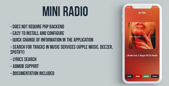 Mini radio by Appteve   CodeCanyon