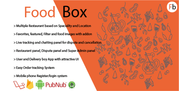 Food Box | Food Delivery Android App with chat | Swiggy Clone
