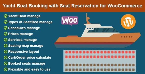 Yacht Boat Booking with Seat Reservation for WooCommerce