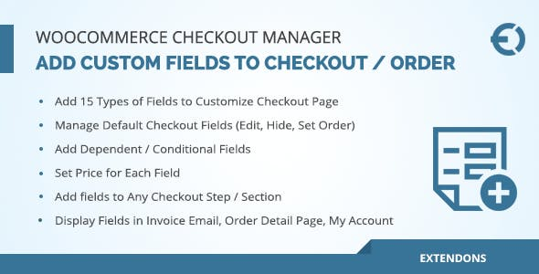 WooCommerce Checkout Fields Manager, Custom Checkout Fields Plugin