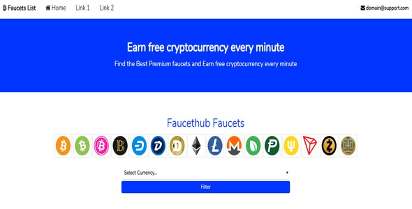 Cryptocurrency Faucet List by bousague | CodeCanyon