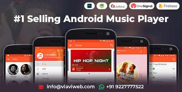 Android Music Player - Online MP3 (Songs) App by viaviwebtech
