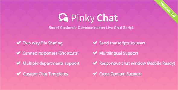 Pinky Chat - Live Chat Support App - CodeCanyon Item for Sale