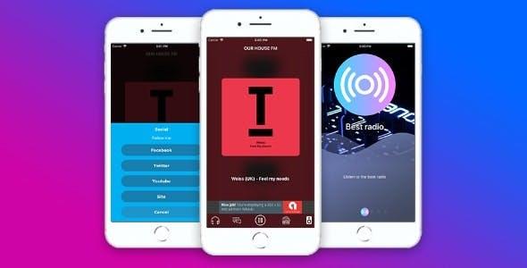 Radio & Chat single station (iOS)