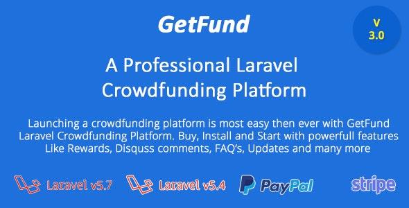 GetFund - A Professional Laravel Crowdfunding Platform by