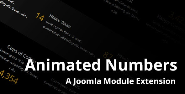 Animated Numbers Module - CodeCanyon Item for Sale