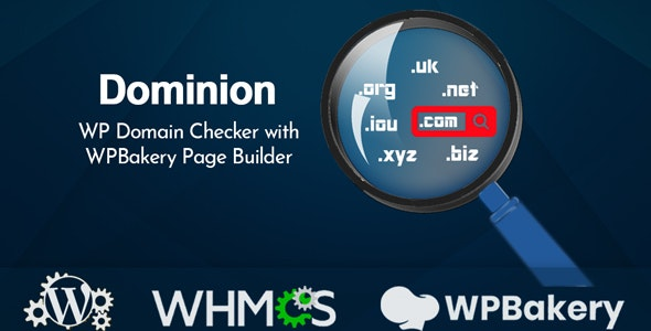 Dominion - WP Domain Checker with WPBakery Page Builder - CodeCanyon Item for Sale