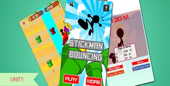 STICKMAN BOUNCING - UNITY TEMPLATES + ADMOB UNITY ADS