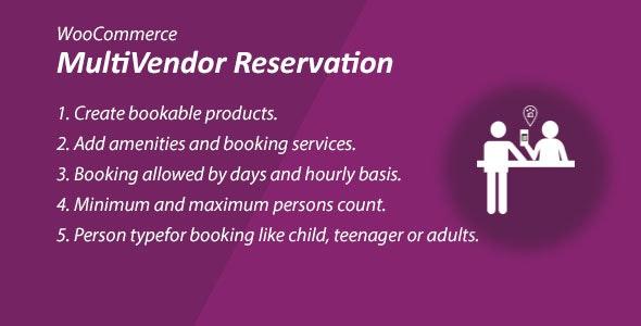 WooCommerce MultiVendor Marketplace Reservation Plugin - CodeCanyon Item for Sale