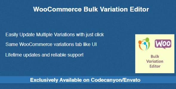 WooCommerce Bulk Variation Editor