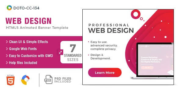 Web Design HTML5 Banners - 7 Sizes