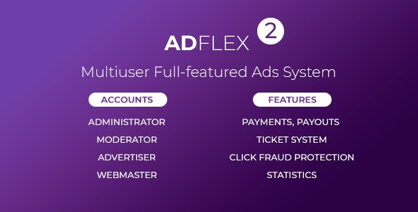 AdFlex - Multi User Full-featured Ads System - CodeCanyon Item for Sale