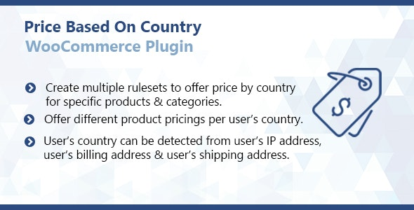 WooCommerce Price Based On Country Plugin - CodeCanyon Item for Sale
