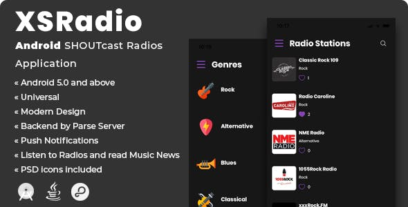 XSRadio | Android SHOUTcast Radios Application