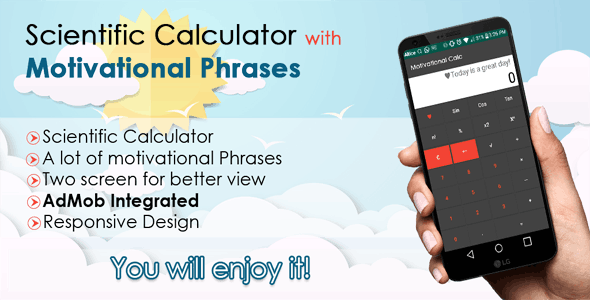 Scientific Calculator with Motivational Phrases