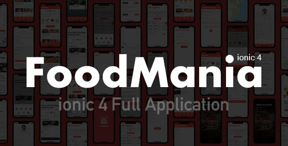 Foodmania Ionic 4 Full Application Template - CodeCanyon Item for Sale