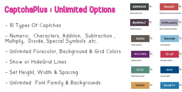 Unlimited Captcha Plus | Asp Core - CodeCanyon Item for Sale