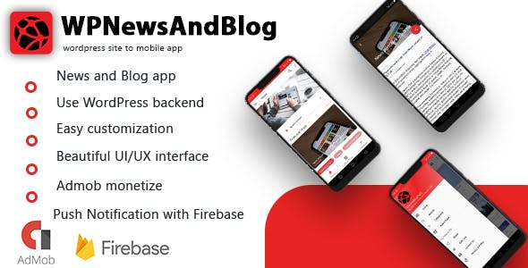 WPNewsAndBlog - Android app for WordPress News and Blog site |Admob Integrated| Push Notification