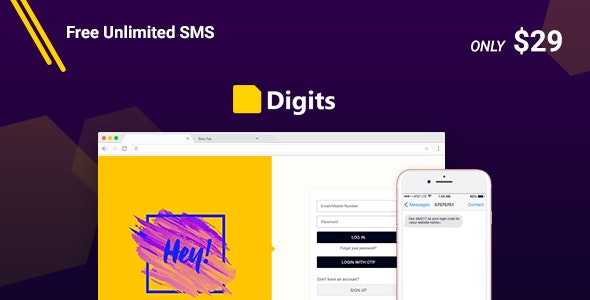 Digits : WordPress Mobile Number Signup and Login by
