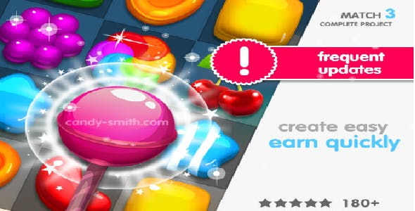 (Android - IOS) Match 3 Jelly Garden