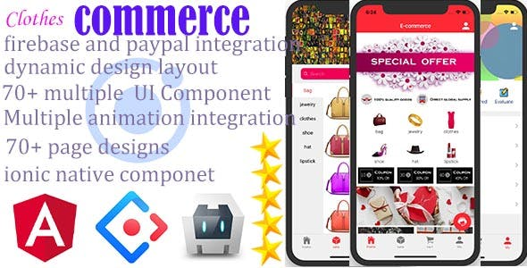 Ionic4 Clothes Commerce App