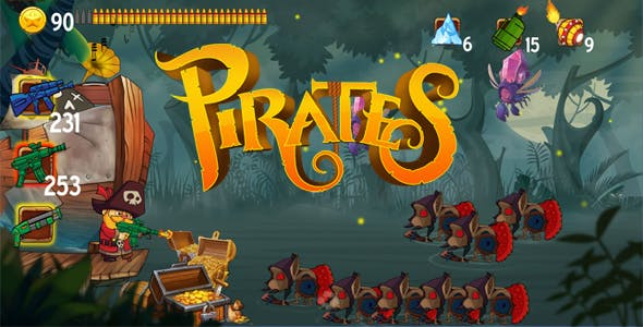 Swamp Zombie Attack - Pirate Kings ( Android + IOS )