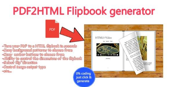 Advanced PDF to HTML Flipbook generator