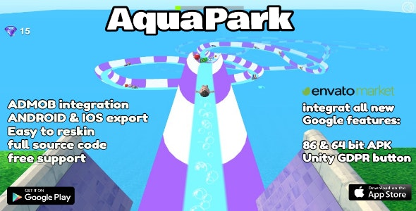 Aquapark - Unity 3D Game Template for Android & IOS Source