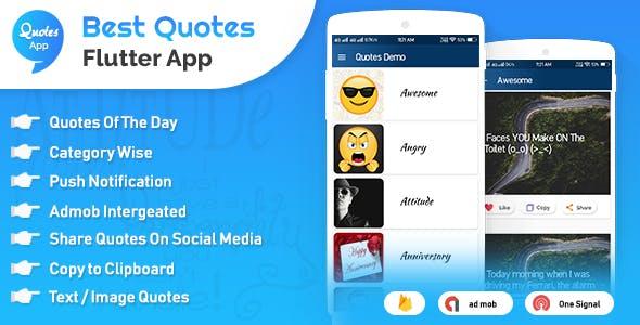 Flutter App Quotes