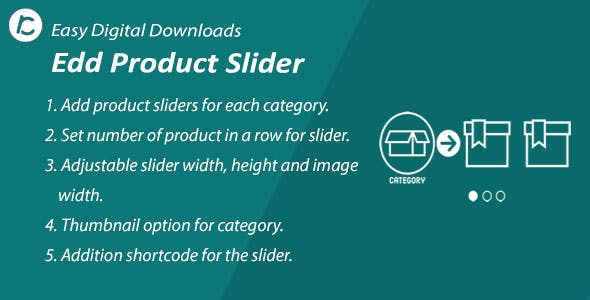 WordPress EDD Product Slider