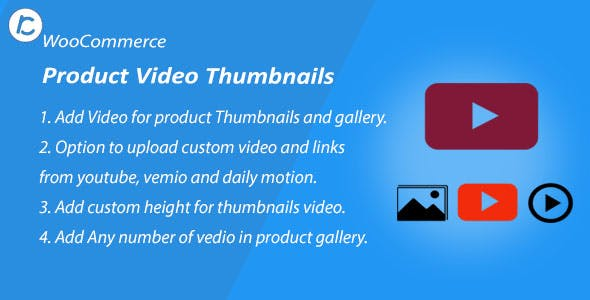 WooCommerce Product Thumbnail And Gallery Video