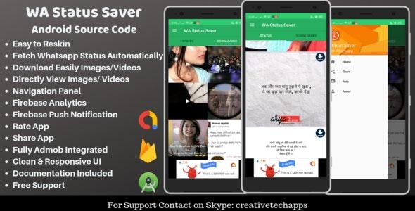 WA Status Saver - Download Whatsapp Status - CodeCanyon Item for Sale