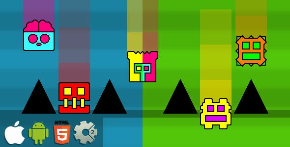 Falling Dash - HTML5 Mobile Game (Construct 3 | Construct 2 | Capx)