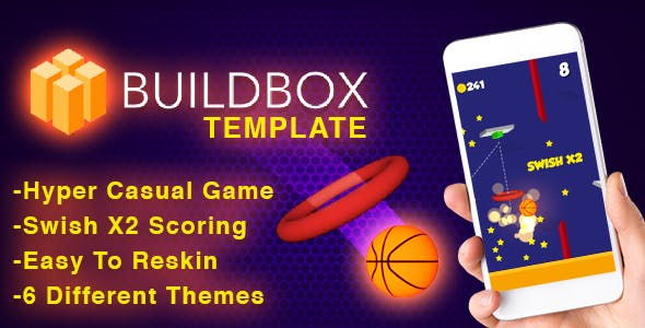 Hoop Shot Basketball - Buildbox Template