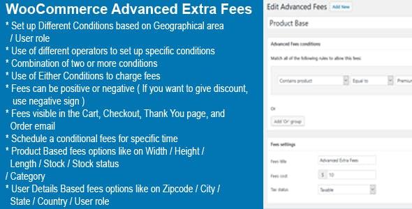 WooCommerce Advanced Extra Fees