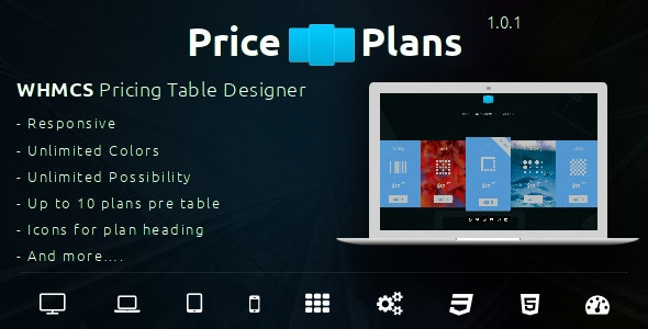 PricePlans - WHMCS Responsive Pricing Table Designer - CodeCanyon Item for Sale