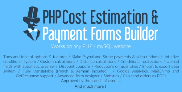 PHP Cost Estimation & Payment Forms Builder by loopus