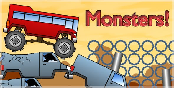 Monster Track - HTML5 Mobile Game (Construct 3 / Construct 2 / Capx)
