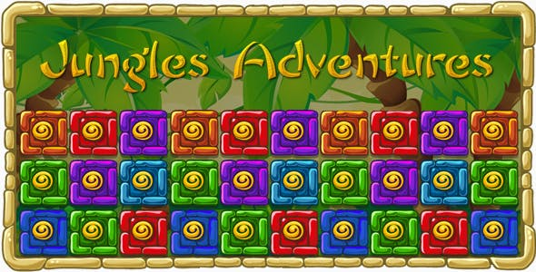 Jungles Adventures - HTML5 Mobile Game (Construct 3 | Construct 2 | Capx)